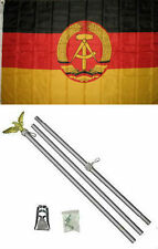 3x5 East Germany Flag Aluminum Pole Kit Set 3'x5'