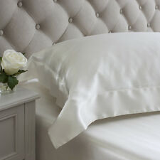 Jasmine Silk 19 MM Charmeuse Oxford Square Silk Pillow Case Ivory 65 x 65 + 7cm