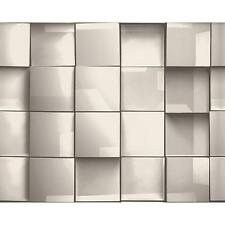 AS CREATION SQUARE TILE PATTERN 3D EFFECT TEXTURED NON WOVEN WALLPAPER 960203