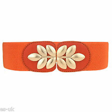 Women's Elasticated Waist Belt; Metal Flower Buckle; As Picture; Floral; BNWT