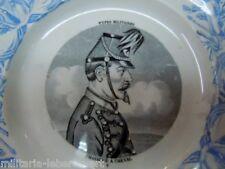 Assiette GIEN Chasseur à Cheval Second Empire France ORIGINAL (Crimea périod)