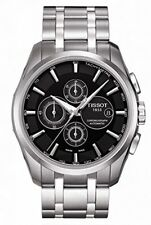 NEW TISSOT COUTURIER AUTO CHRONO STAINLESS STEEL BLACK DIAL T035.627.11.051.00