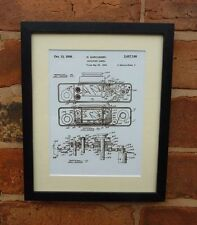 USA Patent vintage miniature SPY CAMERA photography MOUNTED PRINT 1934 Gift