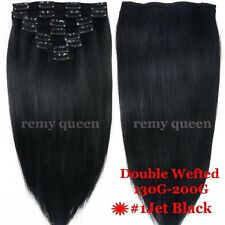 US Cheap Price 5A Clip In Remy Human Hair Extensions Full Head Double Wefts V485