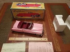 fifties pink cadillac type 1950 friction tin toy car made in japan in box tin