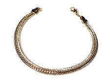 Bijou alliage doré bracelet intemporel maille anglaise ciselée 5 mm bangle