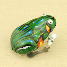 1 Wind Up Animal Jumping Frog Retro Classic Clockwork Tin Toy Gift