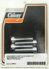 Harley 82-up Handlebar Clamp Screw Kit Colony 8796-4