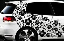122-teiliges Auto Aufkleber Hibiskus Blumen Schmetterlinge HAWAII WANDTATTOO 9xx