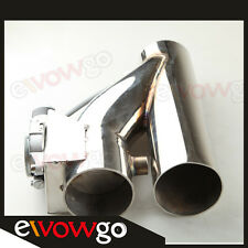 """3.5"""" Exhaust Downpipe Testpipe Catback E Electric Cutout kit Switch Control"""