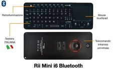 Rii Mini i6 Bluetooth - Tastiera retroilluminata con touchpad e telecomando TV