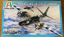 ITALERI WWII 1,600 hp Douglas A-20 G Havoc Light Bomber model kit 1/48