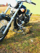 Honda Shadow VT 750 DC Black Widow (RC 48) Acero inoxidable choque bar con clavijas