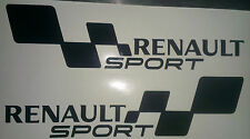 2x RENAULT SPORT FLAG Set Car/Van/Window JDM VW VAG EURO Vinyl Decal Sticker
