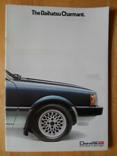 DAIHATSU Charmant orig 1984 UK Market sales brochure