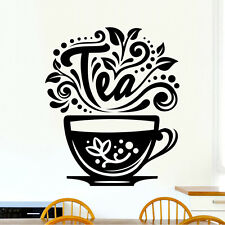 Love Tea Cup Kitchen Wall Tea Sticker Vinyl Decal Art Restaurant Pub Decor