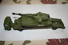 DINKY TOY CHIEFTAIN TANK 155MM MOBILE GUN AND AEC ARTICULATED LORRY