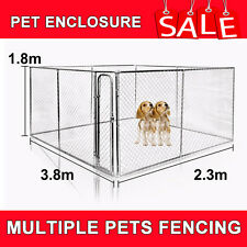LARGE RECTANGULAR KENNEL RUN / DOG RUN / DOG CAGE / PET ENCLOSURE / PEN 3.8