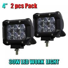 2X 4 Inch 30W OSRAM Led Light Bar Spotlight 4WD ATV Off-road Driving Work Lamp