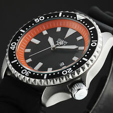 SHARK ARMY Orange Date Display Analog Silicone Military Sport Men Wrist Watch