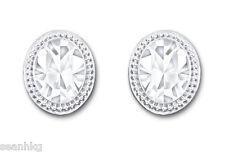 Swarovski Arrive Pierced Earrings, Oval Shaped Framed In Clear Crystal - 5063922