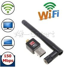 Mini 150Mbps USB WiFi Wireless Adapter Dongle LAN Card 802.11n/g/b w/Antenna AS