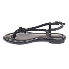 Michael Kors Shoes MK 40T5HOFA1L Holly Leather Sandal Black 7M Agsbeagle COD