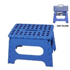 BLUE Folding Step Stool For Home Kitchen Garage Easy Storage Office Chair Seat