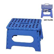 Azul Plegable Taburete de paso para la cocina de casa Garage fácil almacenamiento Oficina Silla Asiento