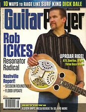 GUITAR PLAYER August 2011 ROB ICKES Resonator Play Like Dick Dale Rockabilly Sca