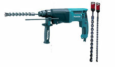 MAKITA HR2630 110v SDS+ ROTARY HAMMER + 16mm x 450 & 25mm x 450 SDS+ drill bits