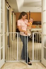 Easy Mount Metal Dog Pet Baby Pressure Gate Steel Extra Tall Wide 4.3 foot long