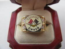 "Superb NEW Mens ""Corvette"" Crest Gold Ring"