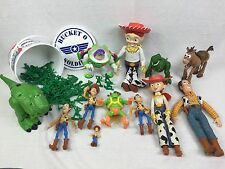 Disney Toy Story Action Figure LOT Woody, Bullseye, Jessie, Electronic Buzz, Rex