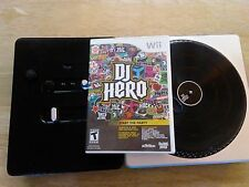 DJ Hero Nintendo Wii Video Games with Turn Table