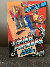 G1 TRANSFORMERS ACTION MASTERS BLASTER W/ FLIGHT-PACK HASBRO 1989 MOC