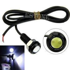 2pcs 3W 18MM Eagle Eye White Light Daytime Running DRL Tail Backup Led Lamp 12V