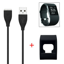 Replacement USB Charger Cable + Slim Designer Sleeve Protector for Fitbit Surge