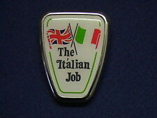 CLASSIC MINI ITALIAN JOB BONNET BADGE  - FREEPOST-
