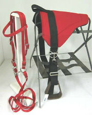 MINIATURE HORSE / SM PONY BAREBACK PAD  SET-  RED