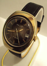VINTAGE MEN'S POLJOT RARE WATCH GOLD PLATED RUSSIAN/USSR BEAUTIFUL DIAL # 860