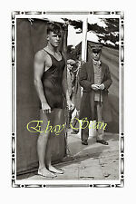 VINTAGE 1928 PHOTO HANDSOME NEAR NUDE BUSTER CRABBE OLYMPICS GAY INTEREST 84
