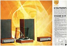 Publicité Advertising 1966 (2 pages) La chaine Hi Fi Stereo Philips