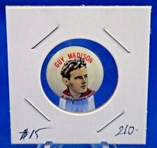"""Guy Madison Cowboy Western Quaker Cereal Advertising Pin Pinback Button 13/16"""""""
