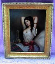 Rares altes Gemälde Erotika ca. 1830 Stobwasser Braunschweig