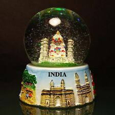Decorative Indian Taj Mahal Snow Globe Dome Paper Weight Car Table Decor Gift