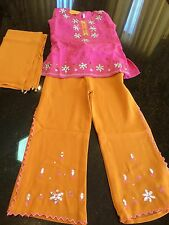 "24"" Chudithar Salwar Kameez Dress Pant Bollywood Indian Girls Wear Size   4- 6"