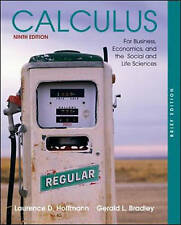 Calculus for Business, Economics, and the Social and Life Sciences,-ExLibrary