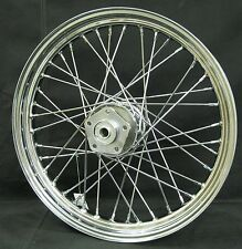 "Chrome Ultima 40 Spoke 19x2.50"" Front Wheel for Harley FXWG Dual Disc 1980-1999"