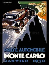 SPORT ADVERT MOTOR RALLY MONTE CARLO MONACO ART POSTER PRINT PICTURE LV7469